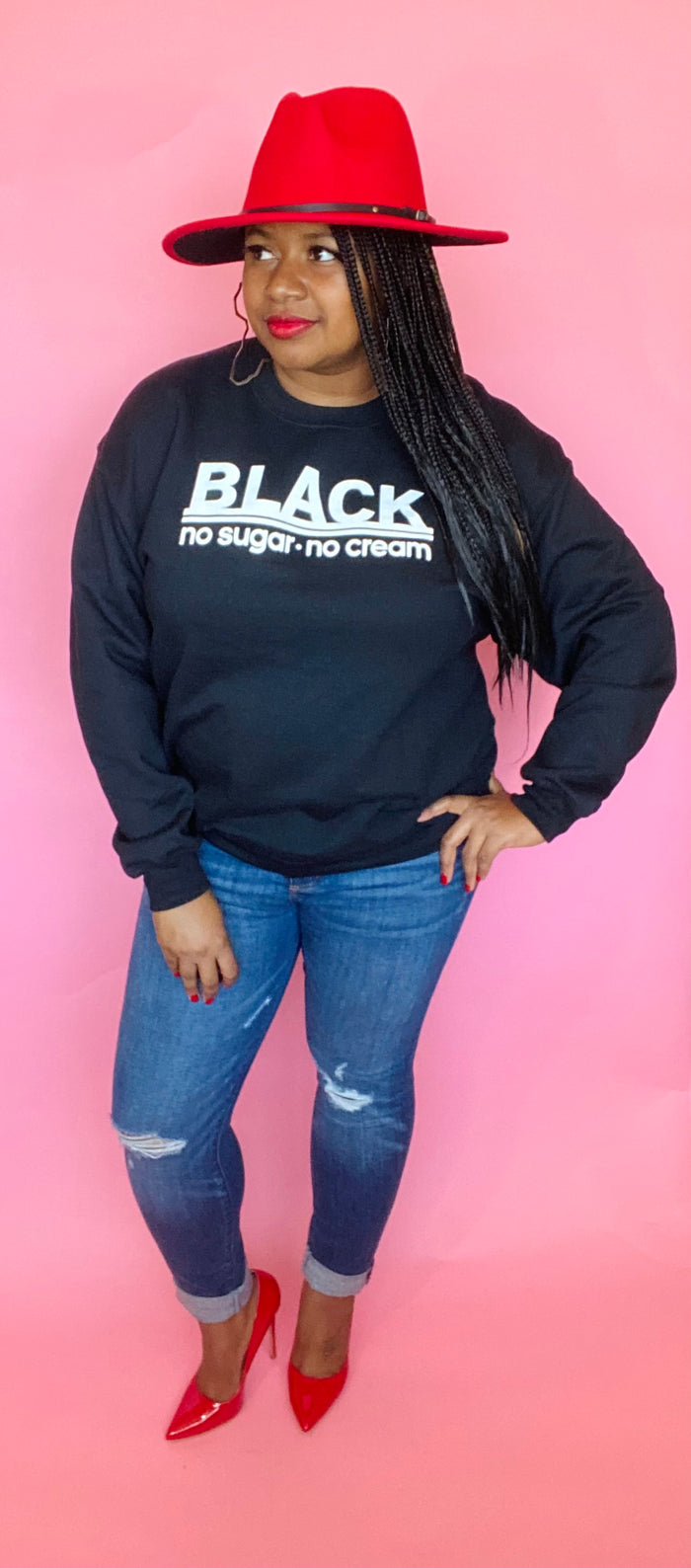 Black, No Sugar No Cream Sweatshirt (Black)
