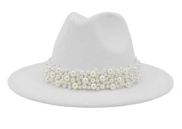 Lady Fedora (White)