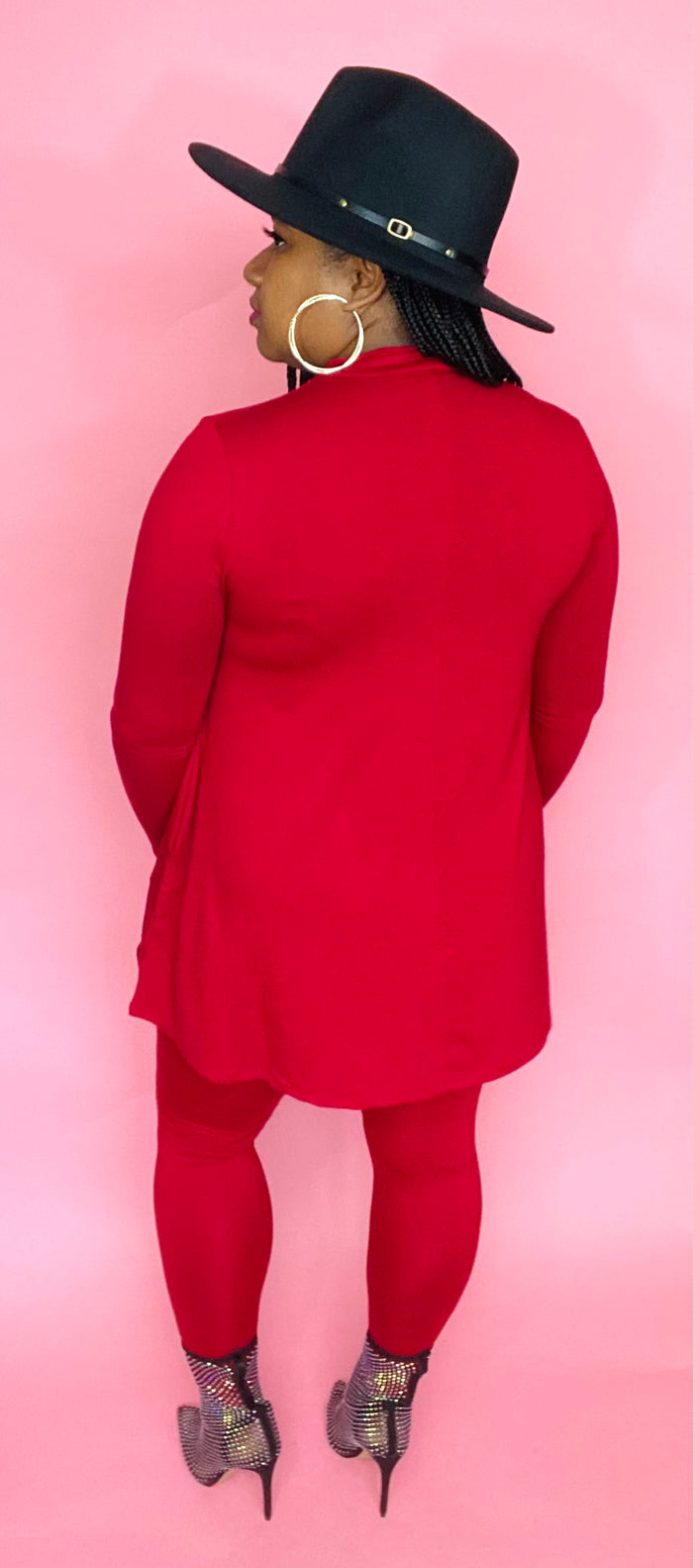 Mock Neck Set (Dark Red)