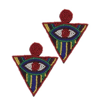 The All Seeing Earrings (Red)