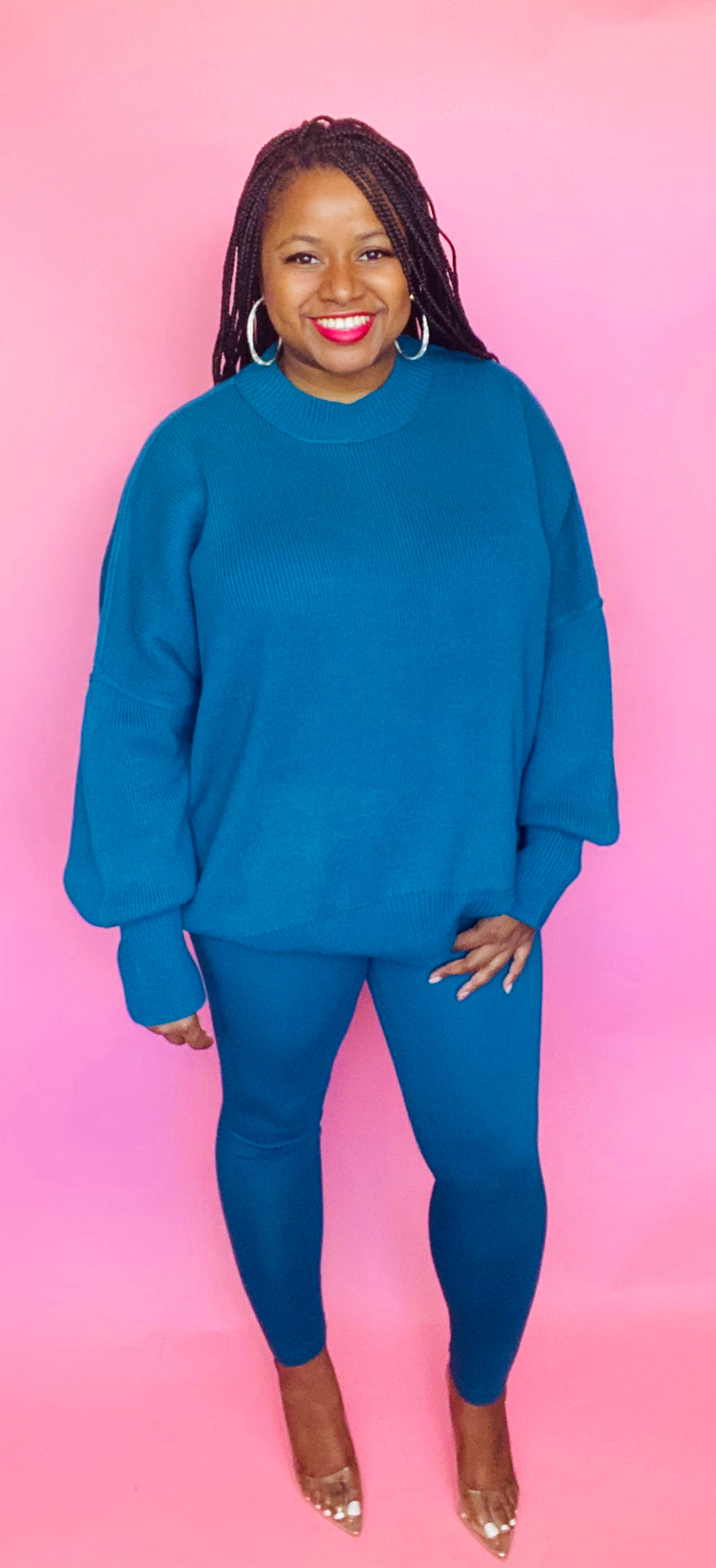 Cozy Sweater Set (Teal)