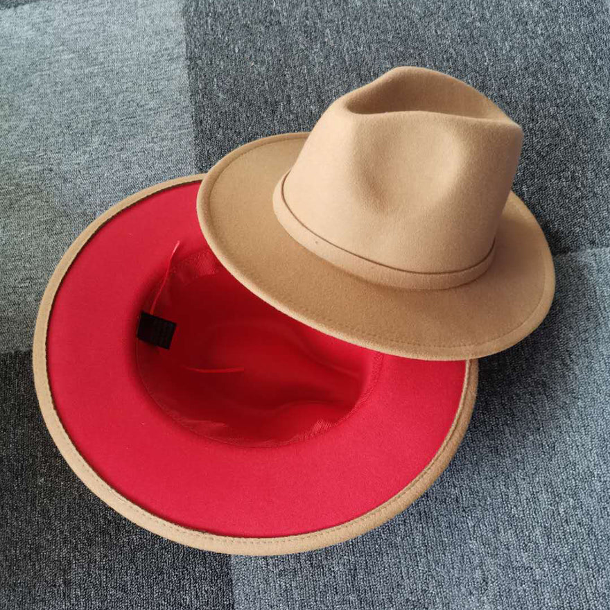 Red Bottom Hat (Tan)