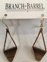Load image into Gallery viewer, Oak Barrel Asymmetrical Diamond Earrings