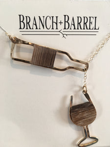 French Oak Barrel Stave Lariat