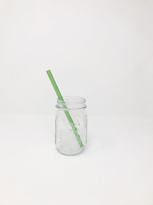 Colored Glass Straw - Straight