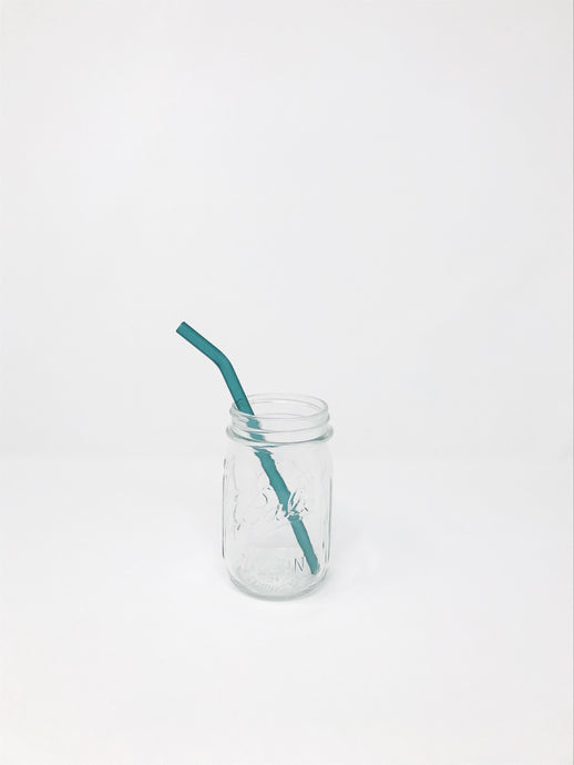 Colored Glass Straw - Bent