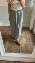 Load and play video in Gallery viewer, Grey maxi skirt with belt