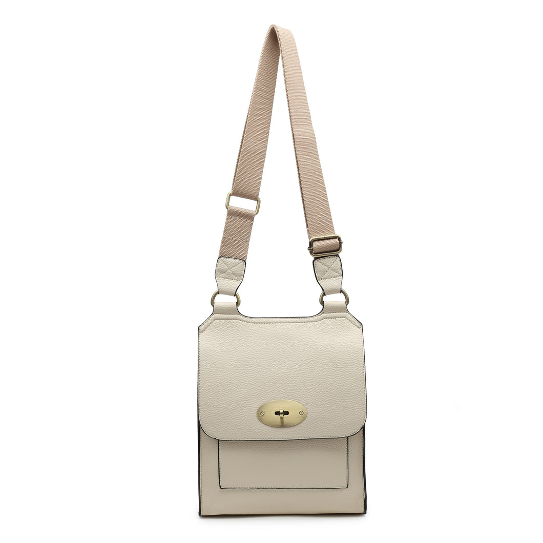 Beige cross over shoulder bag