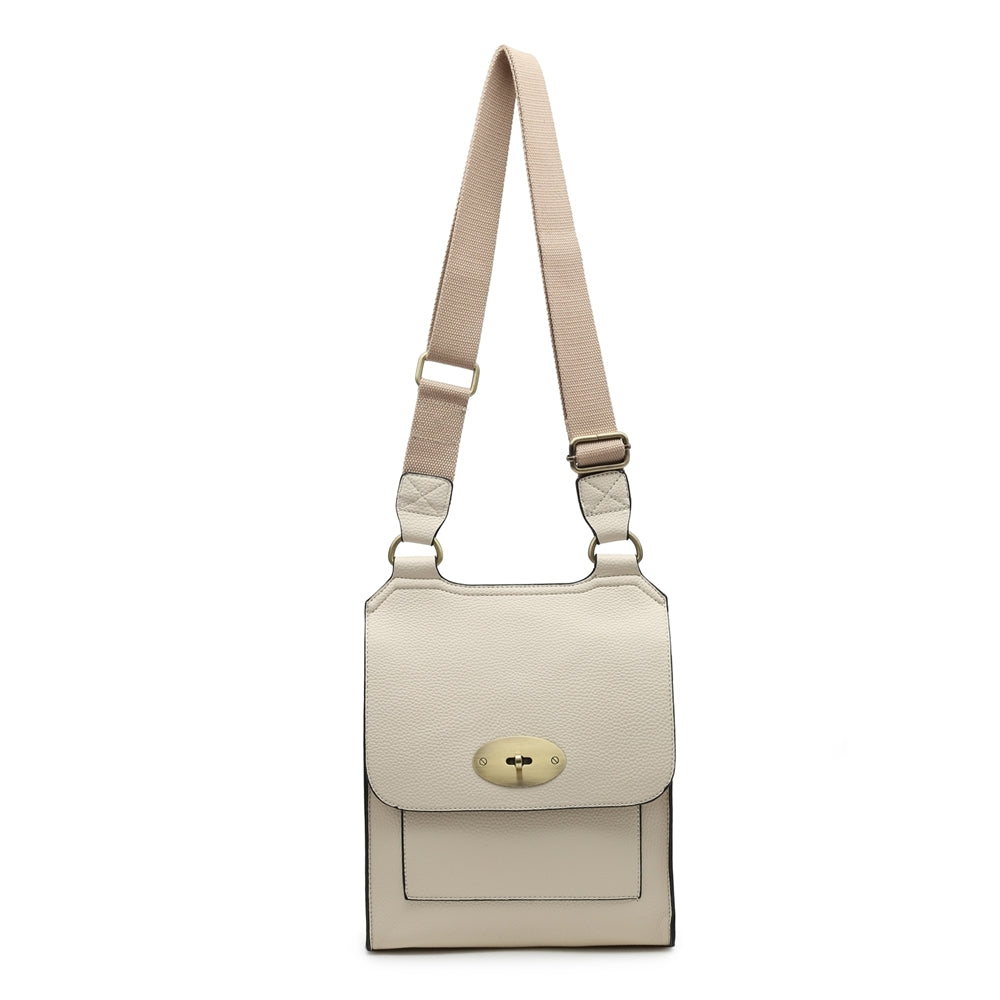 Cream cross over shoulder bag
