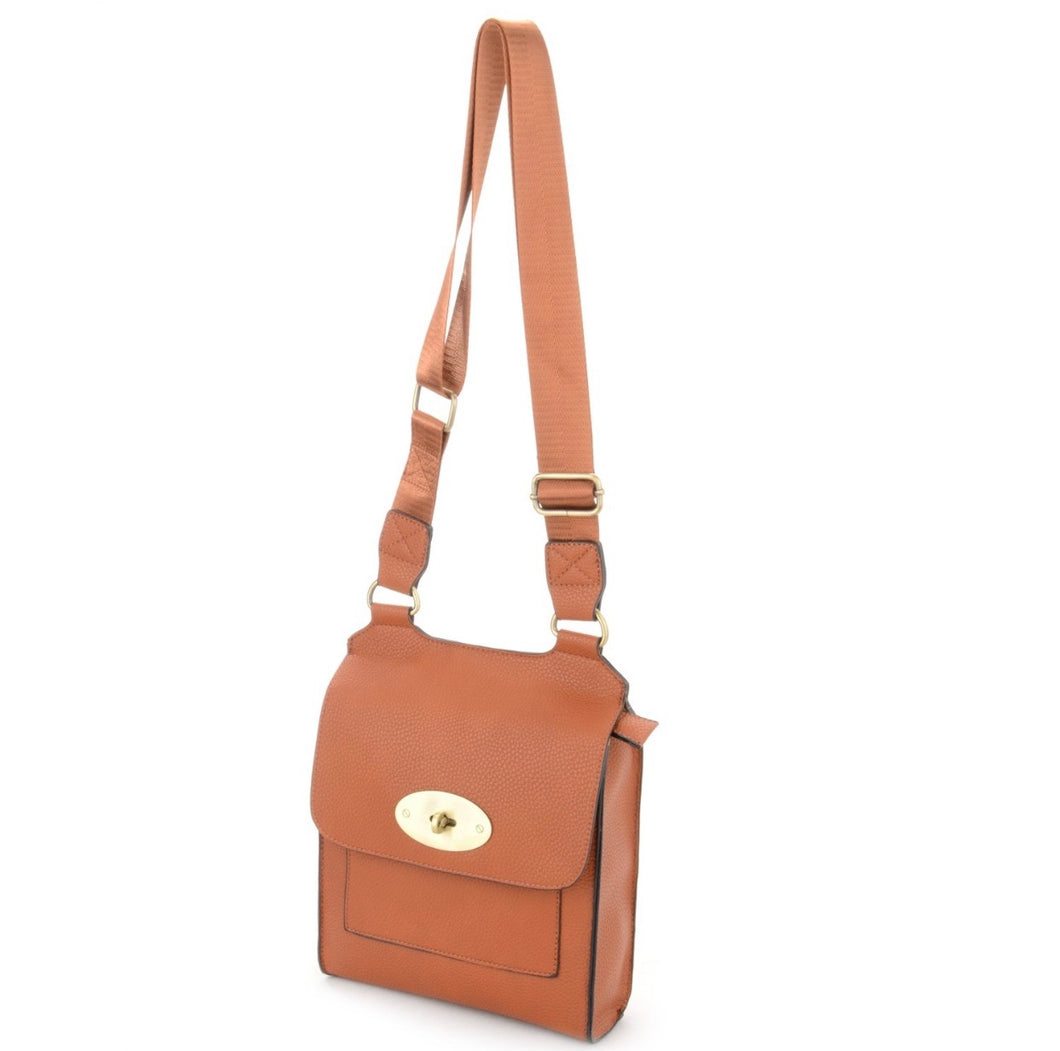 Brown cross over shoulder bag