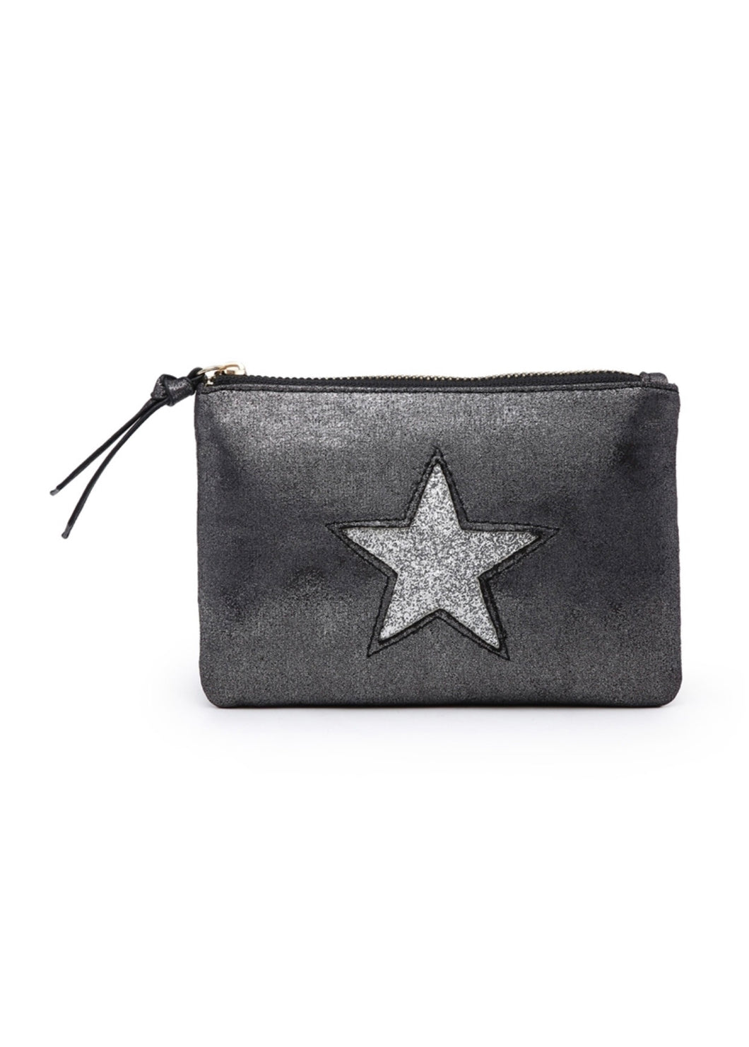 Dark grey star pouch