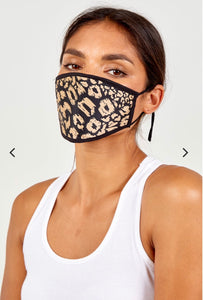 Silky animal print face mask