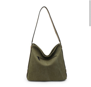Khaki glitter star shoulder bag