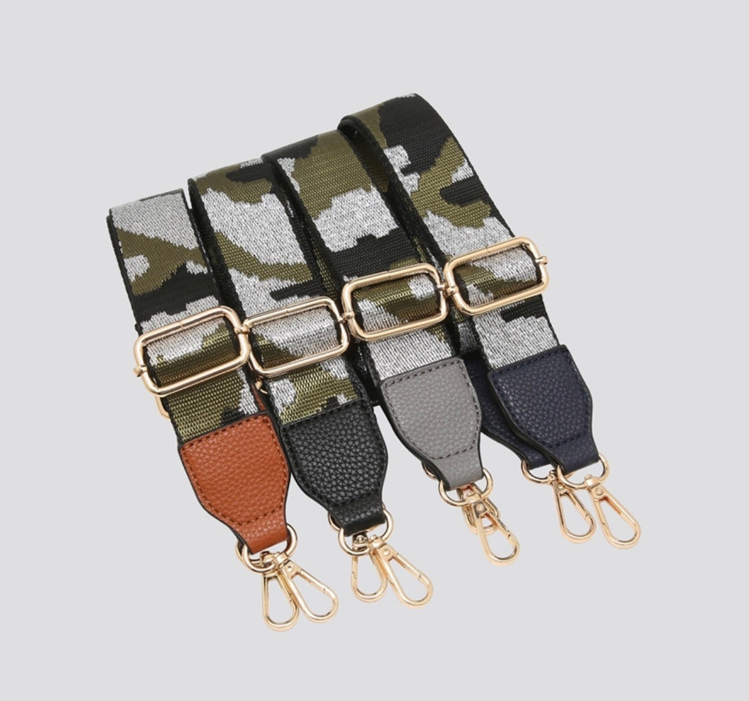 Camouflage bag strap - navy colour