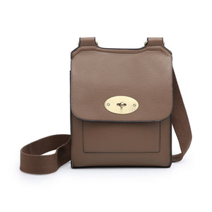 Mocha cross over shoulder bag - larger size