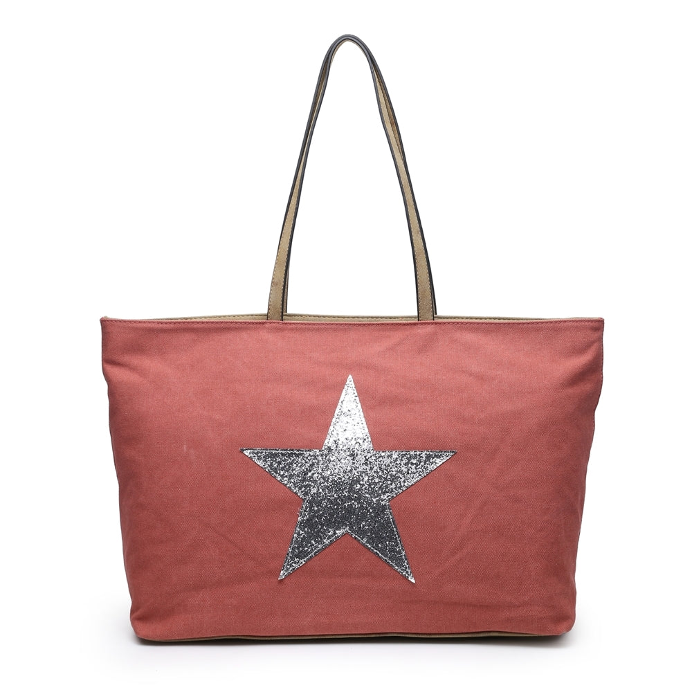 Dusky pink, long handle, star bag