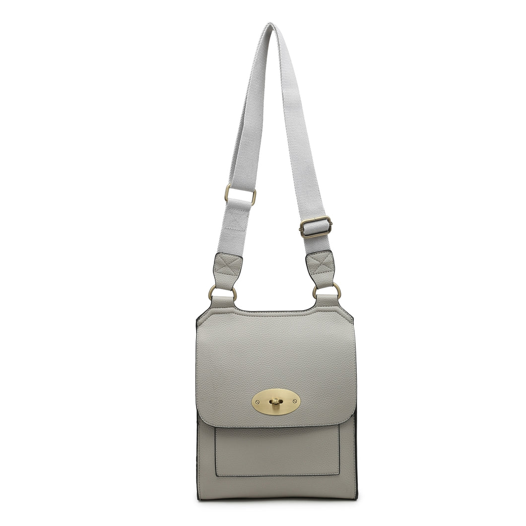 Light grey cross over shoulder bag