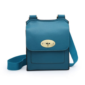 Peacock Blue cross over shoulder bag