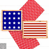 American Flag 2 Signs Date Handmade Wood Sign