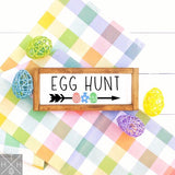 Bunny Trail or Egg Hunt Handmade Wood Sign