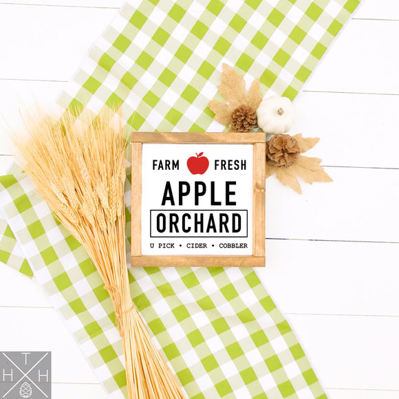 Apple Orchard Interchangeable Sign Insert  **INSERT ONLY**