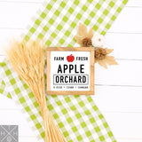 Apple Orchard Handmade Wood Sign