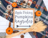 Handmade wood sign, home decor, fall home decor, fall sign, apple picking, pumpkin patch, hayrides.