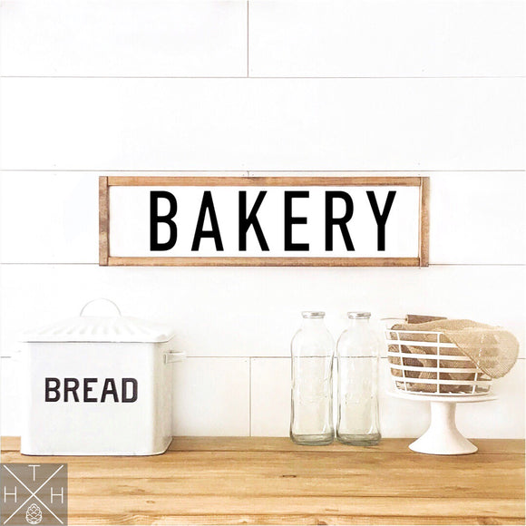 Bakery Handmade Wood Sign