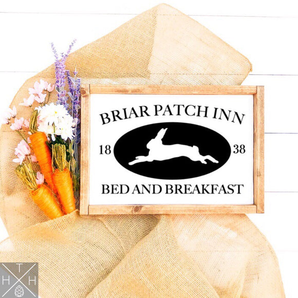Briar Patch Inn Handmade Wood Sign