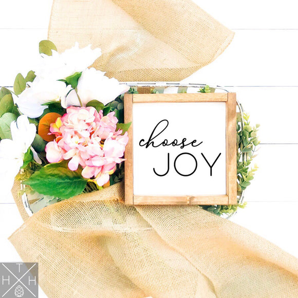 Choose Joy Handmade Wood Sign