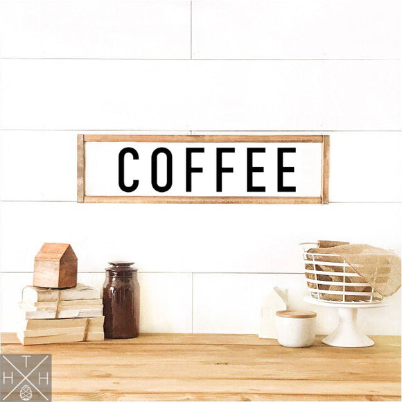 Coffee Handmade Wood Sign