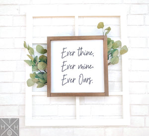 Handmade wood sign, home decor, bedroom decor, bedroom sign, quote, beethovan quote, ever thine, anniversary gift