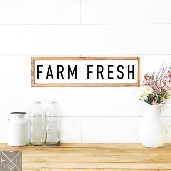 Farm Fresh Handmade Wood Sign