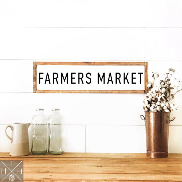 Vintage Farmers Market Handmade Wood Sign