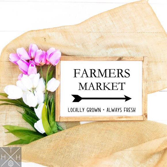 Farmers Market Handmade Wood Sign