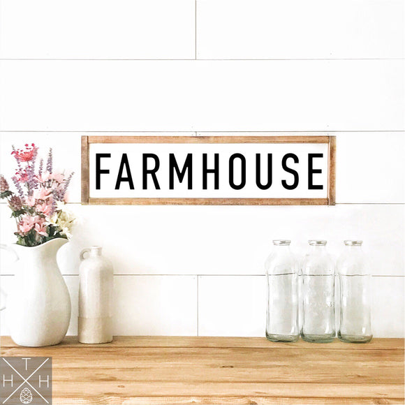 Farmhouse Handmade Wood Sign