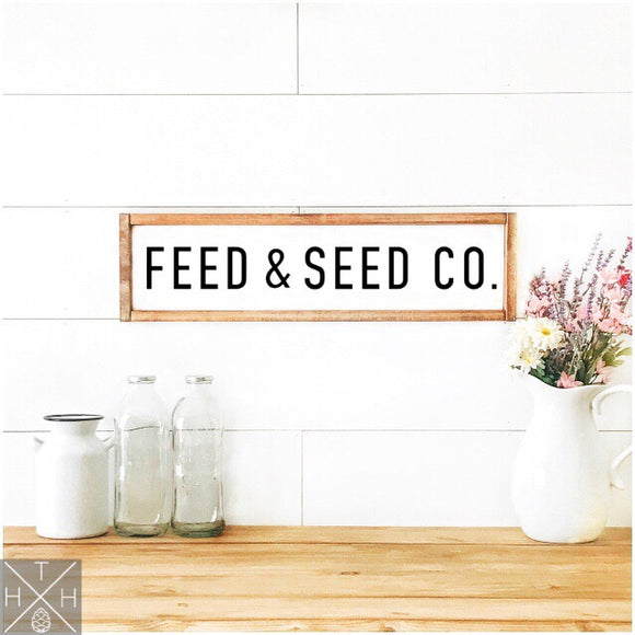 Feed & Seed Co. Handmade Wood Sign