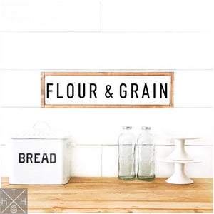 Flour & Grain Handmade Wood Sign