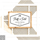 Fluff & Fold Handmade Wood Sign