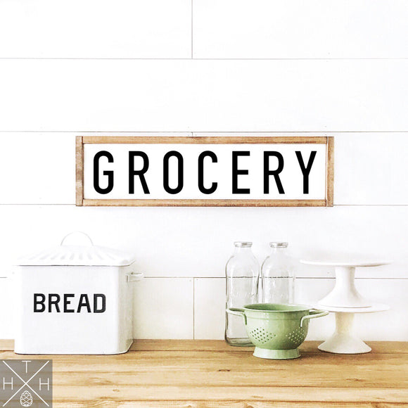 Grocery Handmade Wood Sign