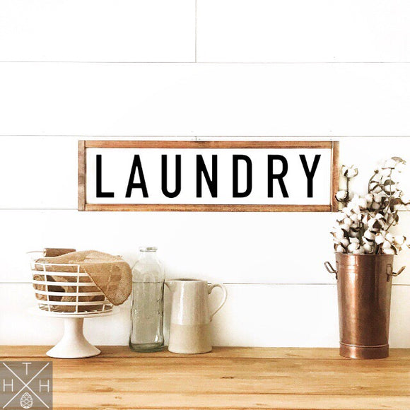 Laundry Handmade Wood Sign