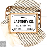 Laundry Co. Handmade Wood Sign