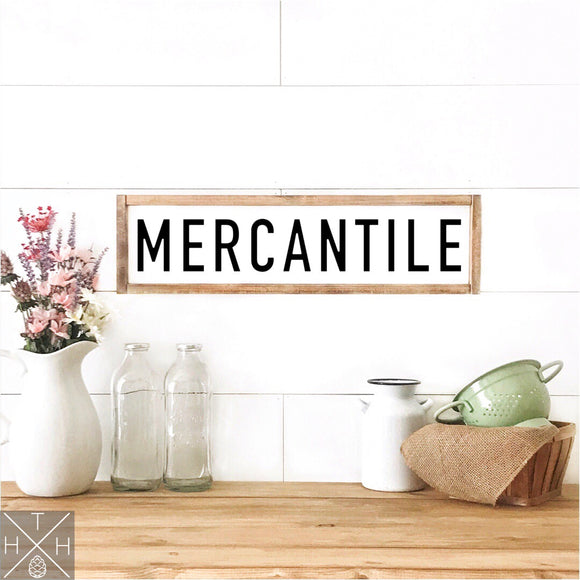Mercantile Handmade Wood Sign