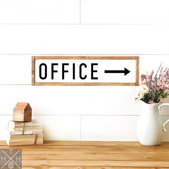Office Handmade Wood Sign