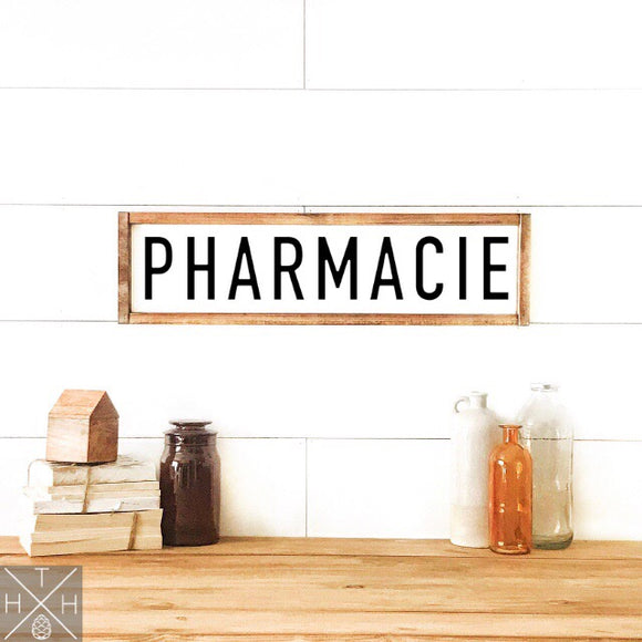 Pharmacie Handmade Wood Sign