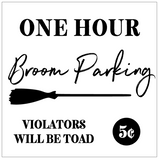 Broom Parking Interchangeable Sign Insert  **INSERT ONLY**
