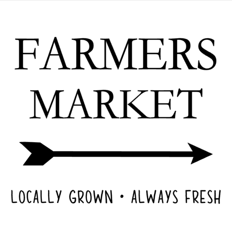 Farmers Market Interchangeable Sign Insert  **INSERT ONLY**