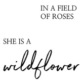 She is a Wildflower Interchangeable Sign Insert  **INSERT ONLY**