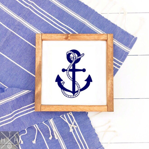 Anchor Handmade Wood Sign