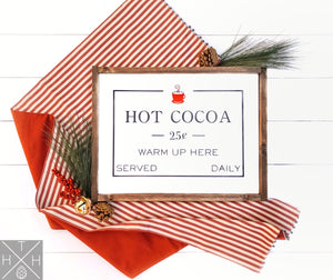 Hot Cocoa Handmade Wood Sign